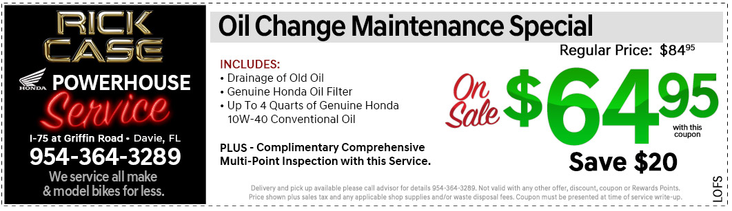 Oil Change Service Special   Expires October 31, 2018